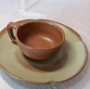 🍽☕🍽Frankoma plate and mug